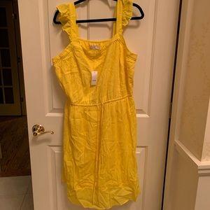 Loft Plus Size 18 Yellow Dress